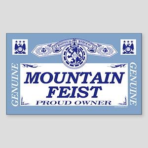 MOUNTAIN FEIST Rectangle Sticker