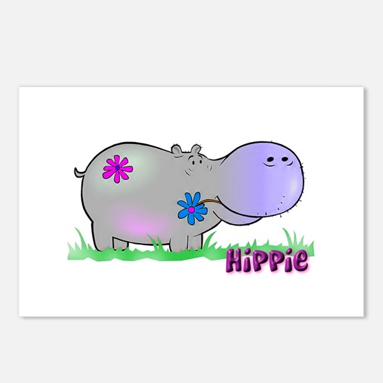 Hippie Hippo Postcards (Package of 8)