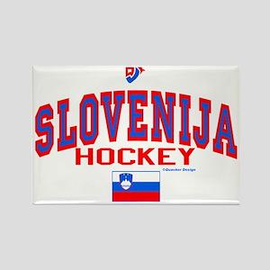 SI Slovenija(Slovenia) Hockey Rectangle Magnet