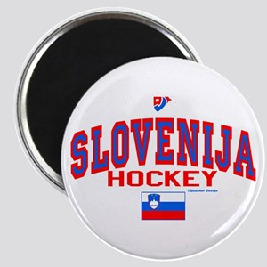 SI Slovenija(Slovenia) Hockey Magnet