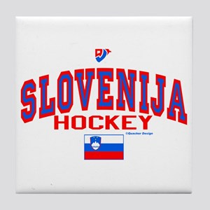 SI Slovenija(Slovenia) Hockey Tile Coaster