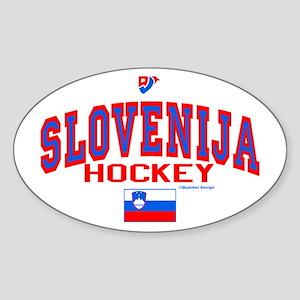 SI Slovenija(Slovenia) Hockey Oval Sticker
