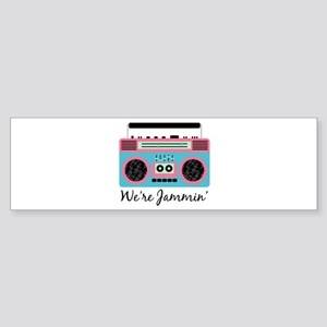 Jammin Boom Box Bumper Sticker