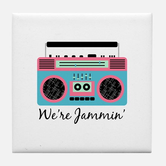 Jammin Boom Box Tile Coaster