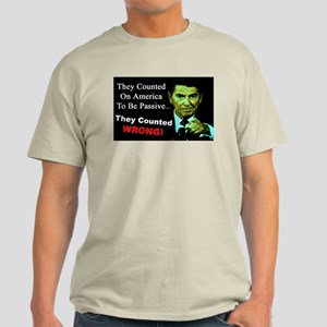 """""""Ronald Reagan: They Counted Wrong!"""" Color T-Shirt"""