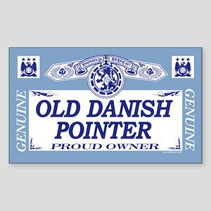 OLD DANISH POINTER Rectangle Sticker
