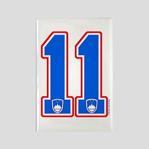 SI Slovenija(Slovenia) Hockey 11 Rectangle Magnet