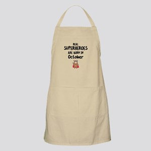 Superheroes are born in October Cncn3 Light Apron