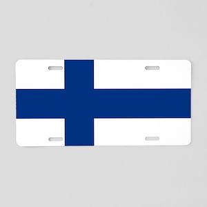 Flag of Finland - Suomen li Aluminum License Plate