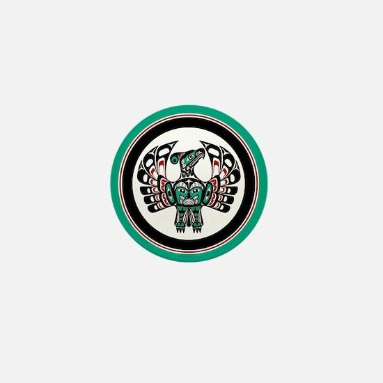 Haida Thunderbird green button Mini Button