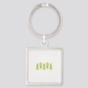 Pineapple Fruit Border Keychains