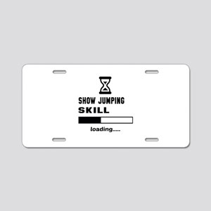 Show Jumping Skill Loading. Aluminum License Plate