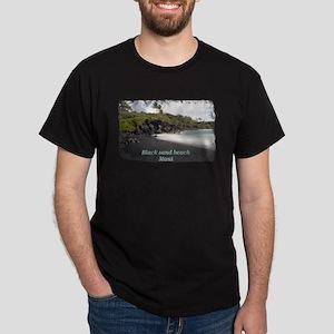 Black sand beach T-Shirt