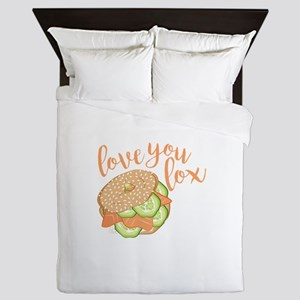 Love You Lox Queen Duvet