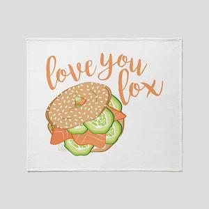 Love You Lox Throw Blanket