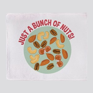 Bunch Of Nuts Throw Blanket