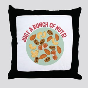 Bunch Of Nuts Throw Pillow