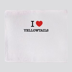 I Love YELLOWTAILS Throw Blanket