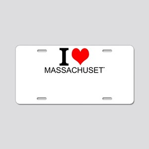 I Love Massachusetts Aluminum License Plate