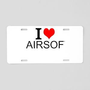 I Love Airsoft Aluminum License Plate