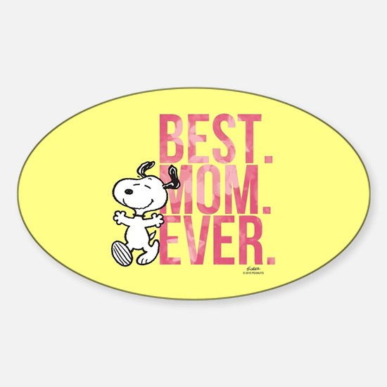 Snoopy -Best Mom Ever Full Bleed Decal