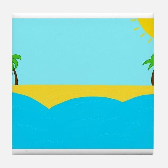 Sunny beach Tile Coaster