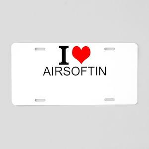 I Love Airsofting Aluminum License Plate
