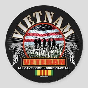 Vietnam Veterans Round Car Magnet