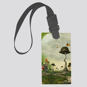 Strange Mushrooms Large Luggage Tag