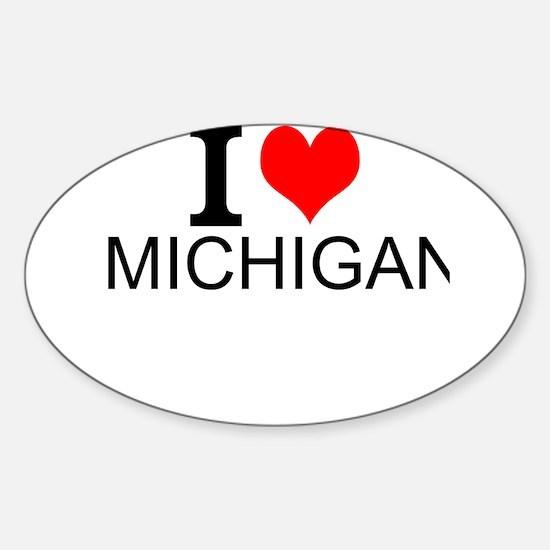 I Love Michigan Decal