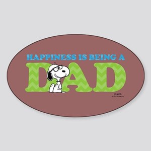Snoopy - Hapiness is Dad Full Bleed Sticker