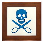 Blue Jolly Cropper Framed Tile