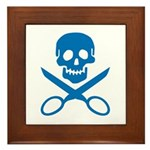Blue Jolly Cropper Framed Tile