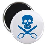 Blue Jolly Cropper Magnet