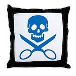 Blue Jolly Cropper Throw Pillow