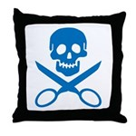 Blue Jolly Cropper Throw Pillow