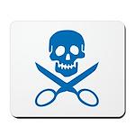 Blue Jolly Cropper Mousepad
