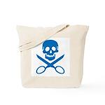 Blue Jolly Cropper Tote Bag
