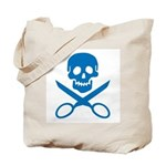 Blue Jolly Cropper Tote Bag