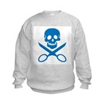 Blue Jolly Cropper Kids Sweatshirt