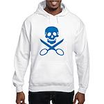 Blue Jolly Cropper Hooded Sweatshirt