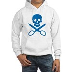 Blue Jolly Cropper Hooded Sweatshirt
