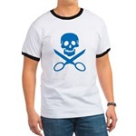 Blue Jolly Cropper Ringer T