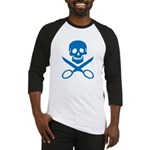 Blue Jolly Cropper Baseball Jersey