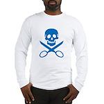 Blue Jolly Cropper Long Sleeve T-Shirt