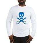 Blue Jolly Cropper Long Sleeve T-Shirt