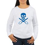 Blue Jolly Cropper Women's Long Sleeve T-Shirt