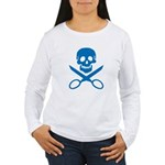 Blue Jolly Cropper Women's Long Sleeve T-Shirt