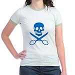 Blue Jolly Cropper Jr. Ringer T-Shirt