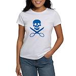 Blue Jolly Cropper Women's T-Shirt